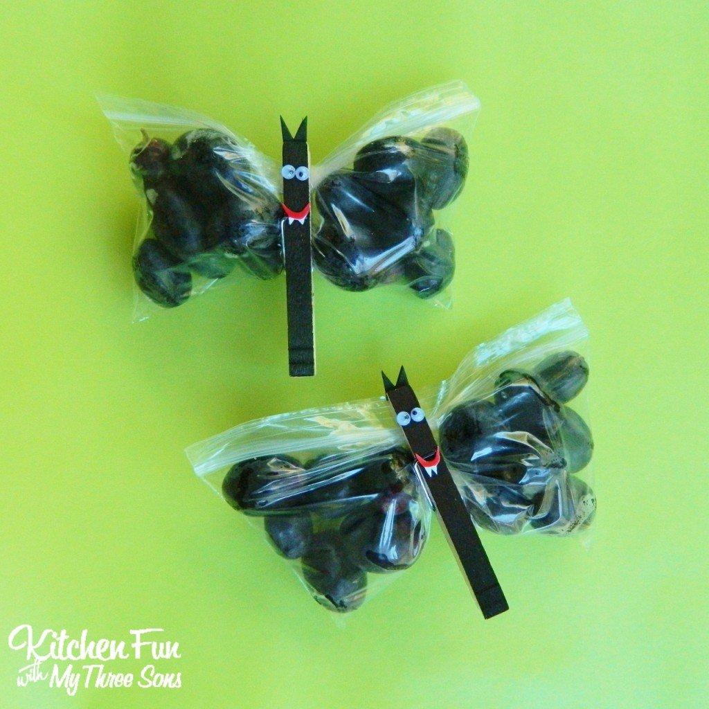 Halloween Fruit Bat Snack Bags