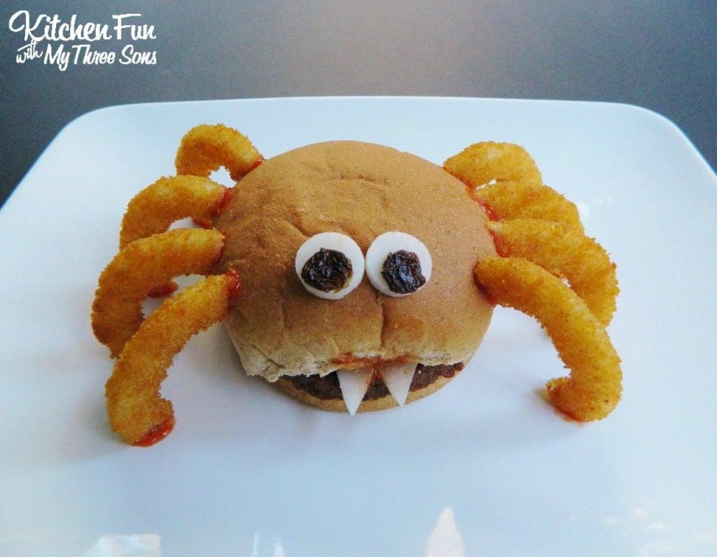 Halloween Spider Burger