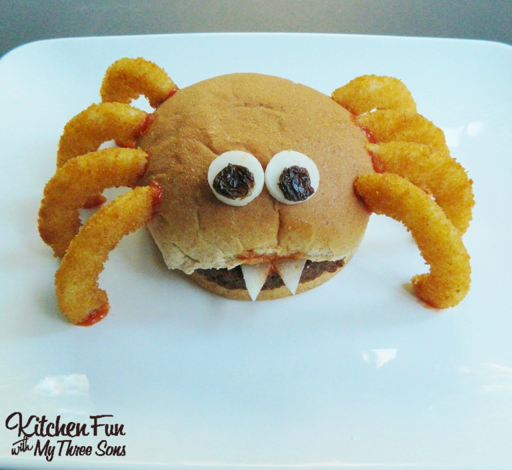 Halloween Hamburgers.Halloween Spider Burger Kitchen Fun With My 3 Sons