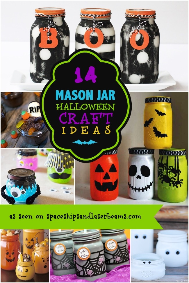 14 Halloween Mason Jar Craft Ideas