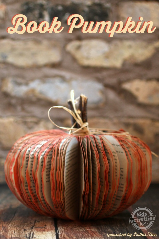 Book Pumpkin Craft