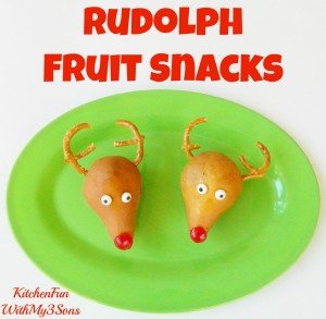 Rudolph the Red Nosed Reindeer Christmas Fruit Snack