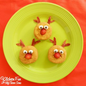 Rudolph the Red Nosed Reindeer Mini Breakfast Donuts for Christmas!