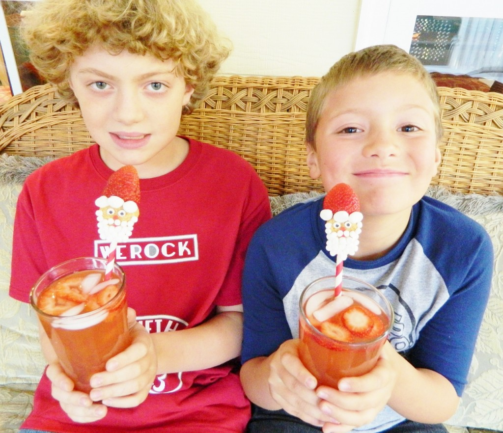 Here are my 2 older boys with their fun Santa Soda