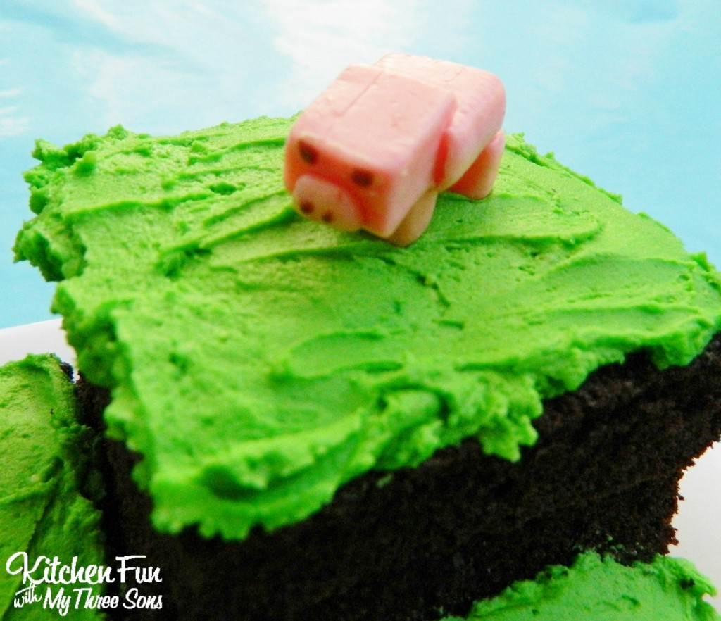 Easy Minecraft Birthday Party Cake Pig