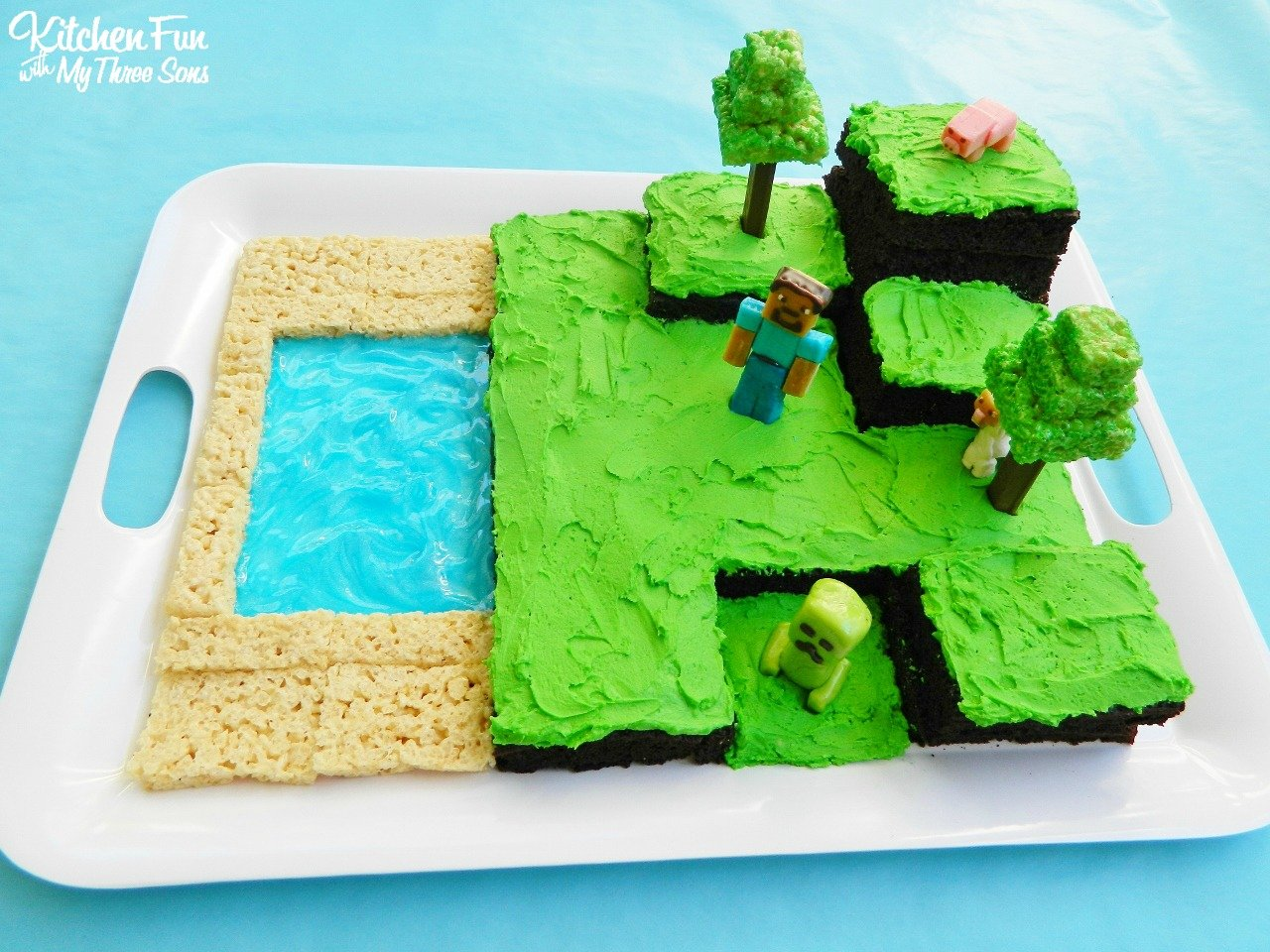 Easy Minecraft Birthday Party Cake Kitchen Fun With My 3