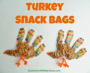 Thanksgiving Turkey Snack Bags for Class Parties at School!