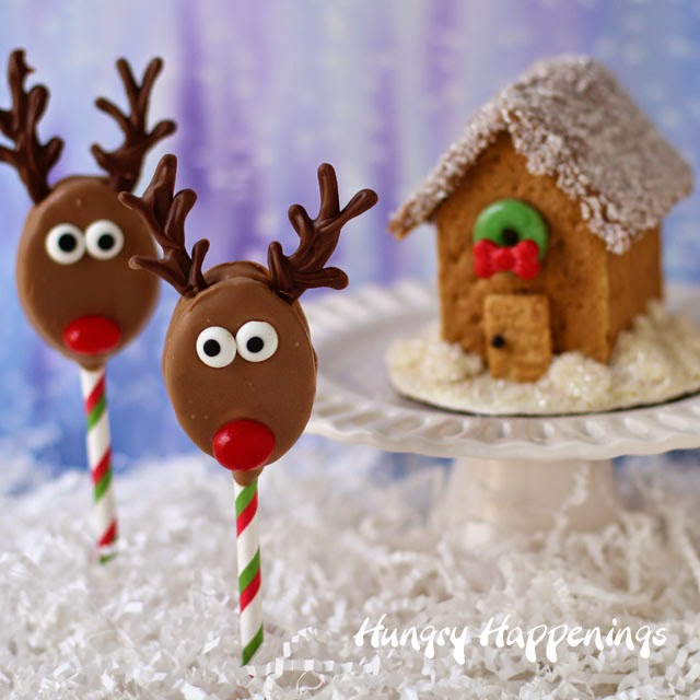 Rudolph Cookie Pops for Christmas