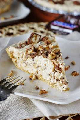 No Bake Snicker Bar Pie