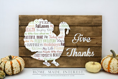 Thanksgiving Turkey Slat Sign