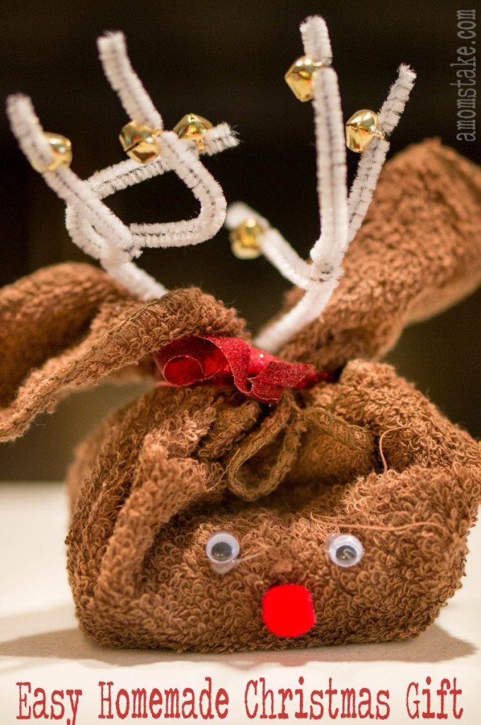 Christmas gift reindeer towel
