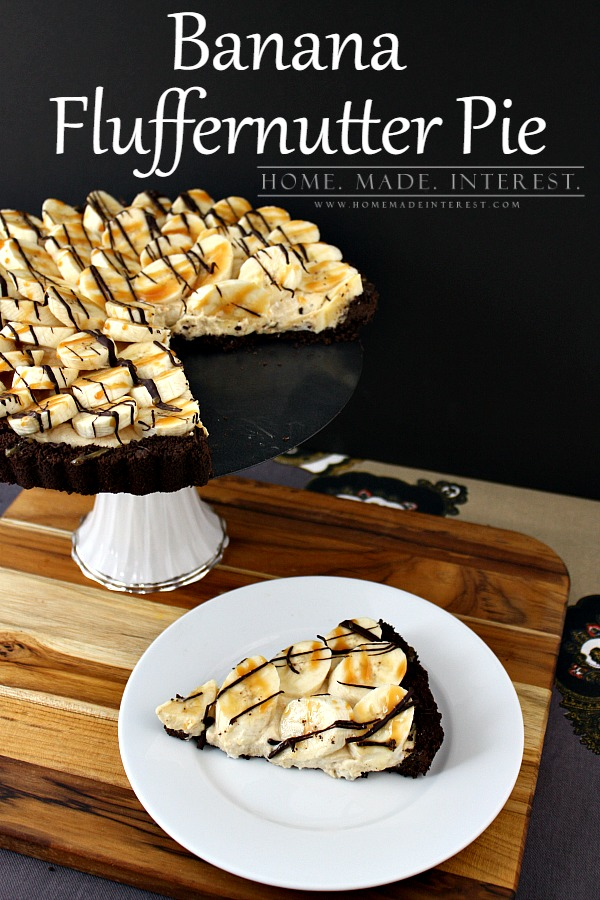 peanut butter and banana fluffernutter pie