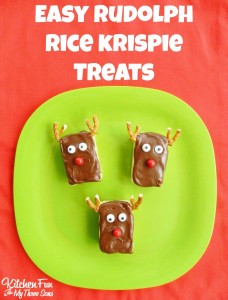 Easy Rudolph the Red Nose Reindeer Rice Krispie Treats