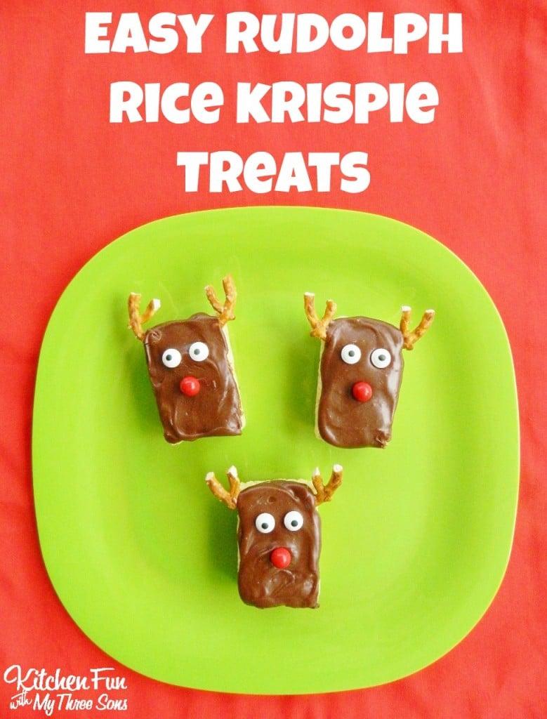Easy Reindeer Rice Krispie Treats