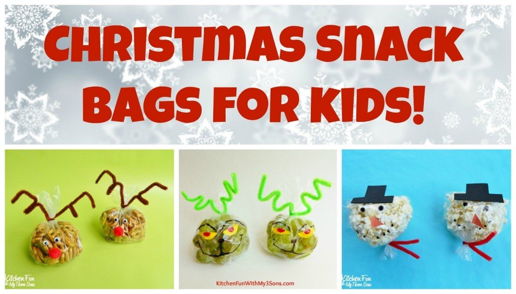 Christmas Snack Bags for Class Parties at School