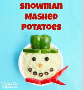 Snowman Mashed Potatoes for Christmas Dinner & the BJ's Cooking Club!