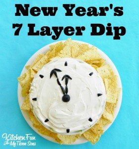 New Year's 7 Layer Dip Appetizer