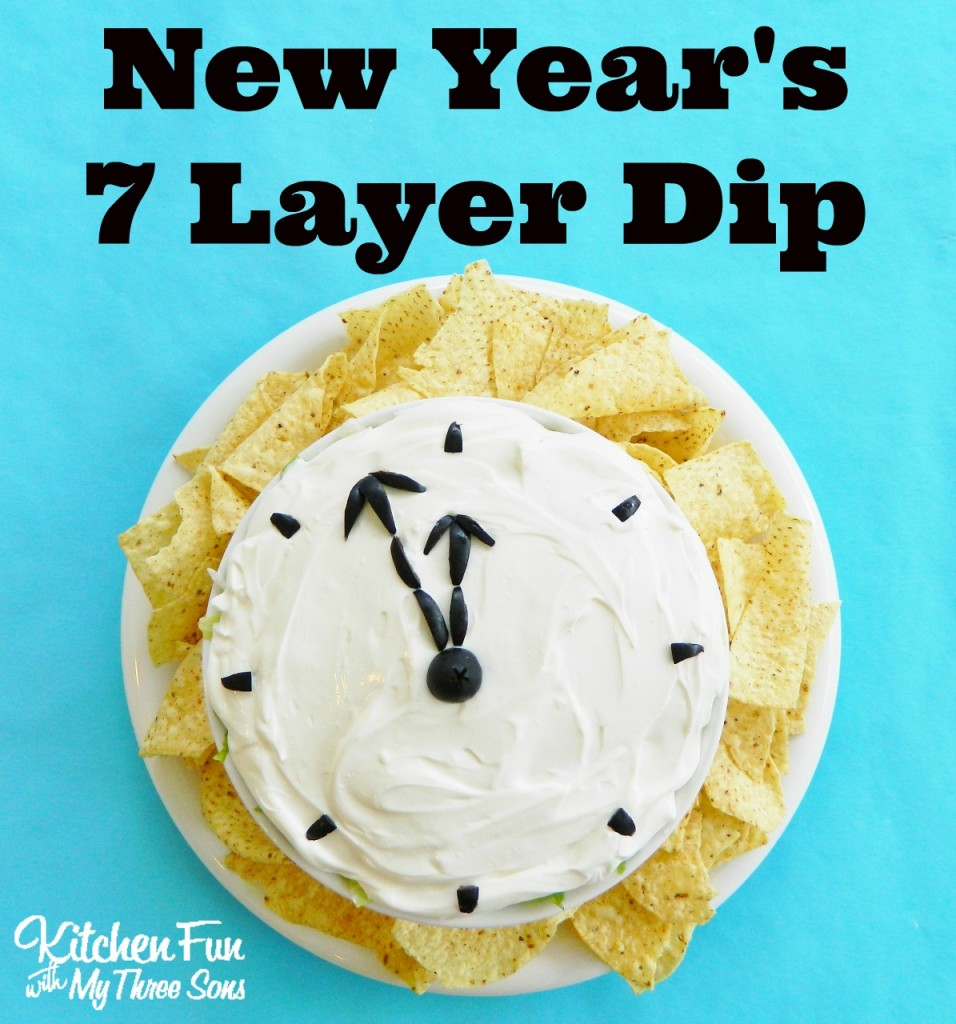 7 Layer Dip for a fun New Year's appetizer