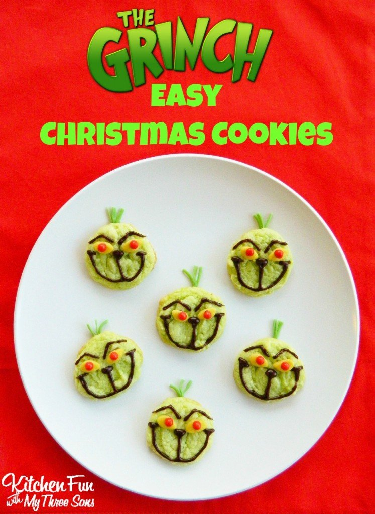 The Grinch Easy Christmas Cookies - Kitchen Fun With My 3 Sons