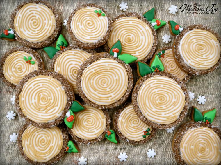 Woodland Christmas Log Cookies