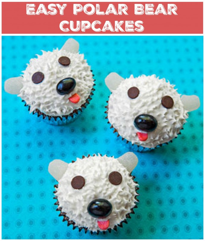 Easy Polar Bear Cupcakes