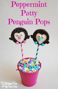 Peppermint Patty Penguin Pops for Valentine's Day!