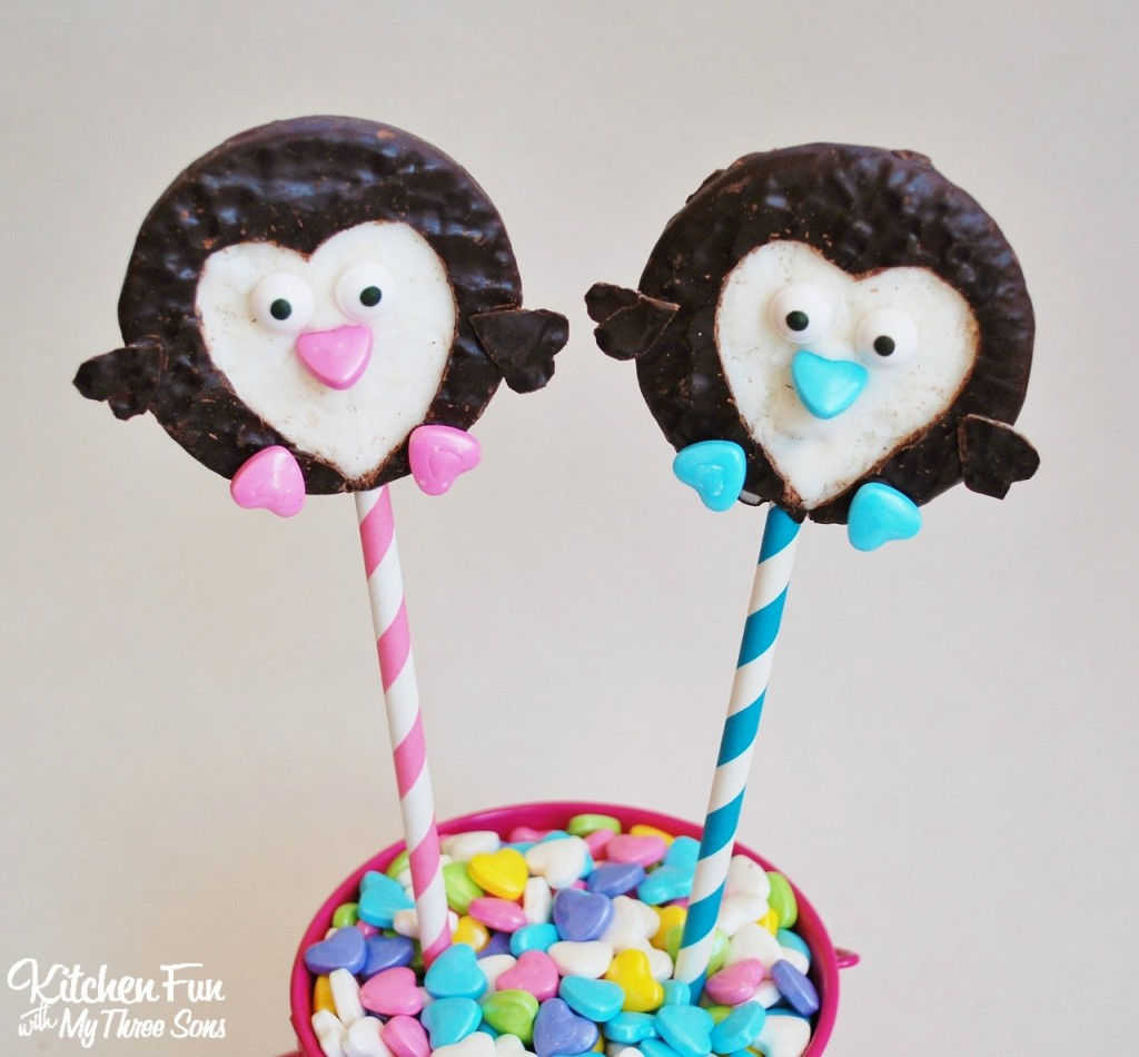 Valentine Peppermint Penguin Pops