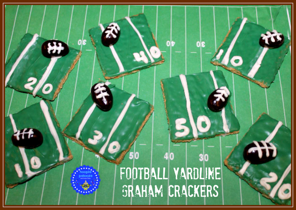 Football Yardline Graham Crackers