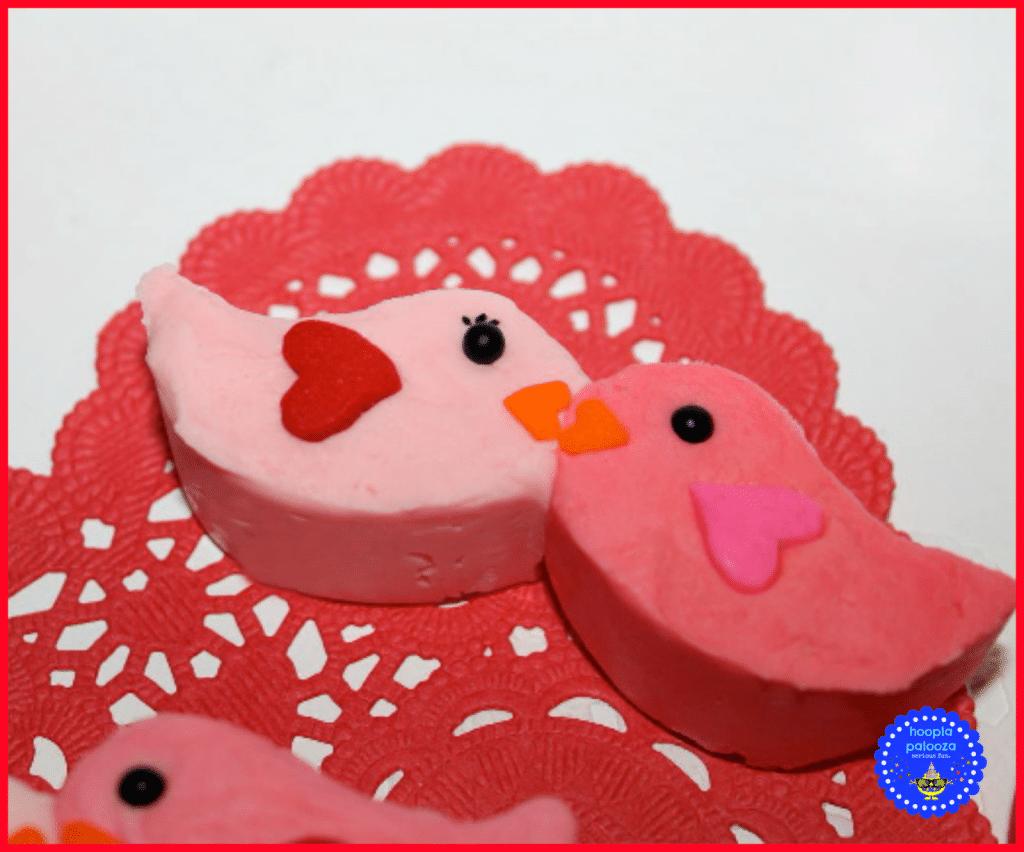Valentine Lovebird Mustache Mold Fudge