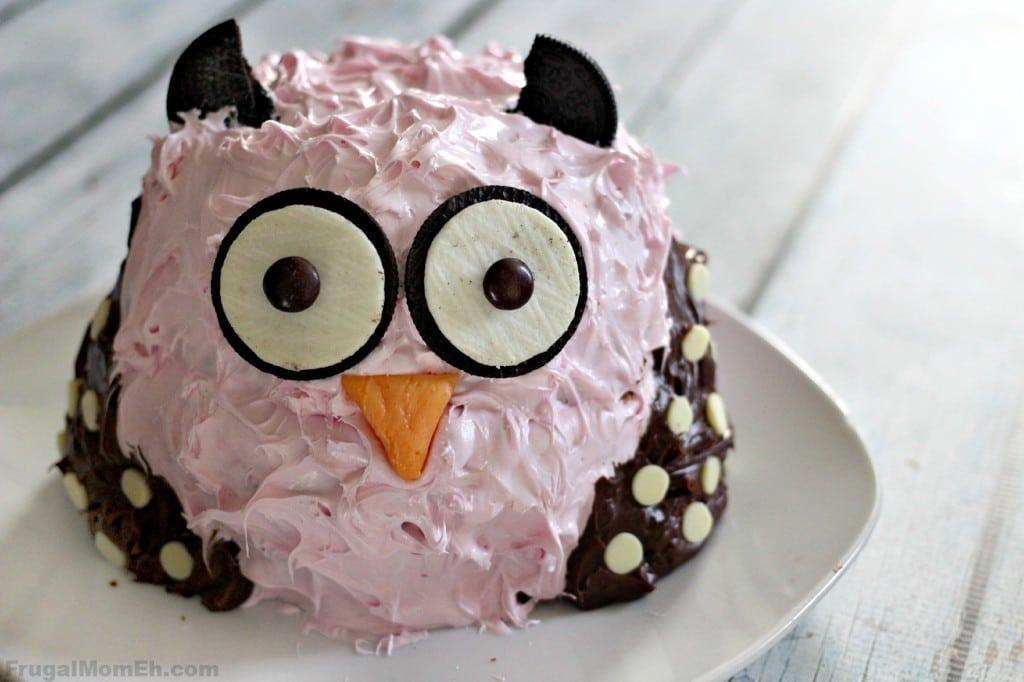 Owl Smash Cake
