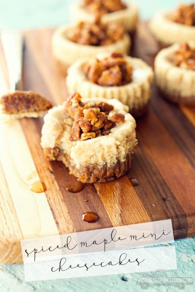 Spiced Maple Mini Cheesecakes