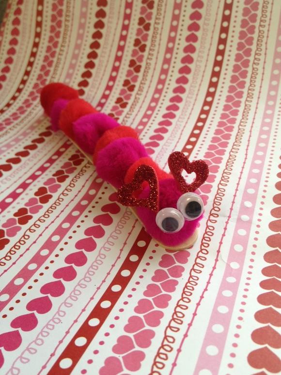 Valentine's Day Caterpillar Craft
