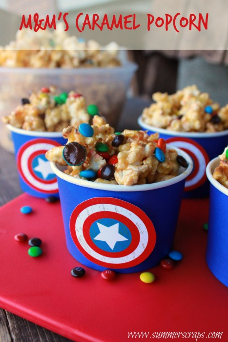 Captain America M&M's Caramel Popcorn