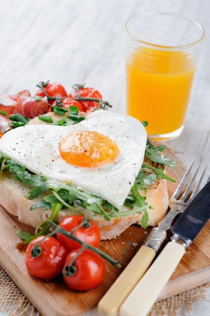 Heart Shaped Egg Breakfast