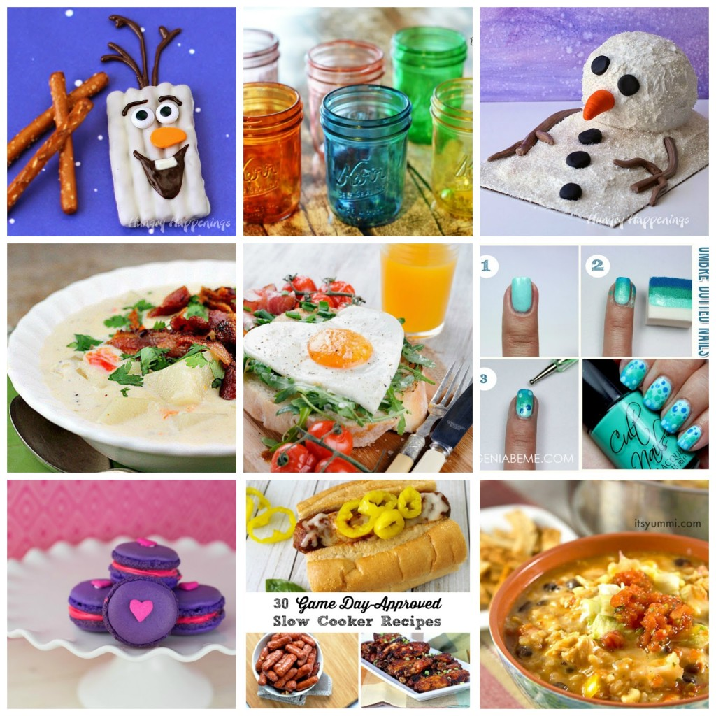fun food, recipes, crafts, diy, baking, link party