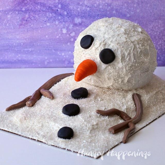 Snowman Surprise Cake