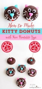 Kitty Cat Donuts with a Free Valentine Printable!