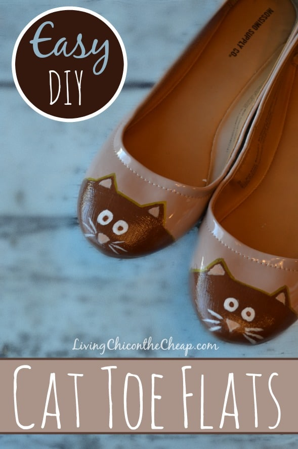 DIY Cat Toe Flats