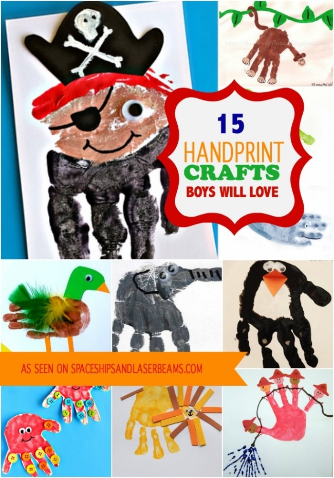 15 Handprint Crafts that Boys will Love