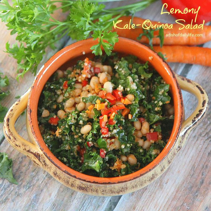 Lemony Kale Quinoa Salad
