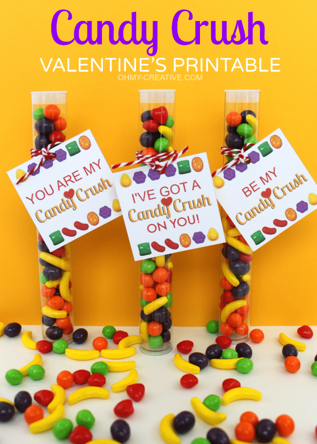 Candy Crush Free Valentine Printable