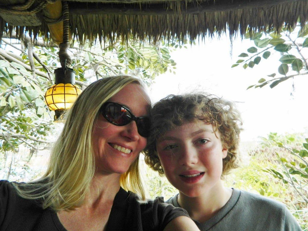 We climbed up high in the Swiss Family Robinson Tree House