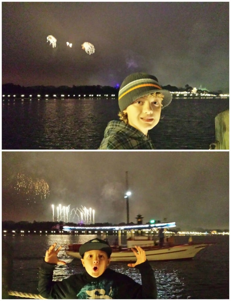 We also got to watch fire works from our hotel at The Grand Floridian...