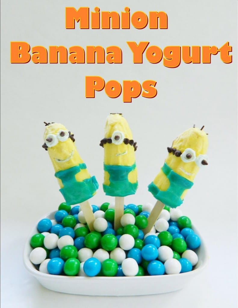 Despicable Me Minion Banana Yogurt Pops from KitchenFunWithMy3Sons.com