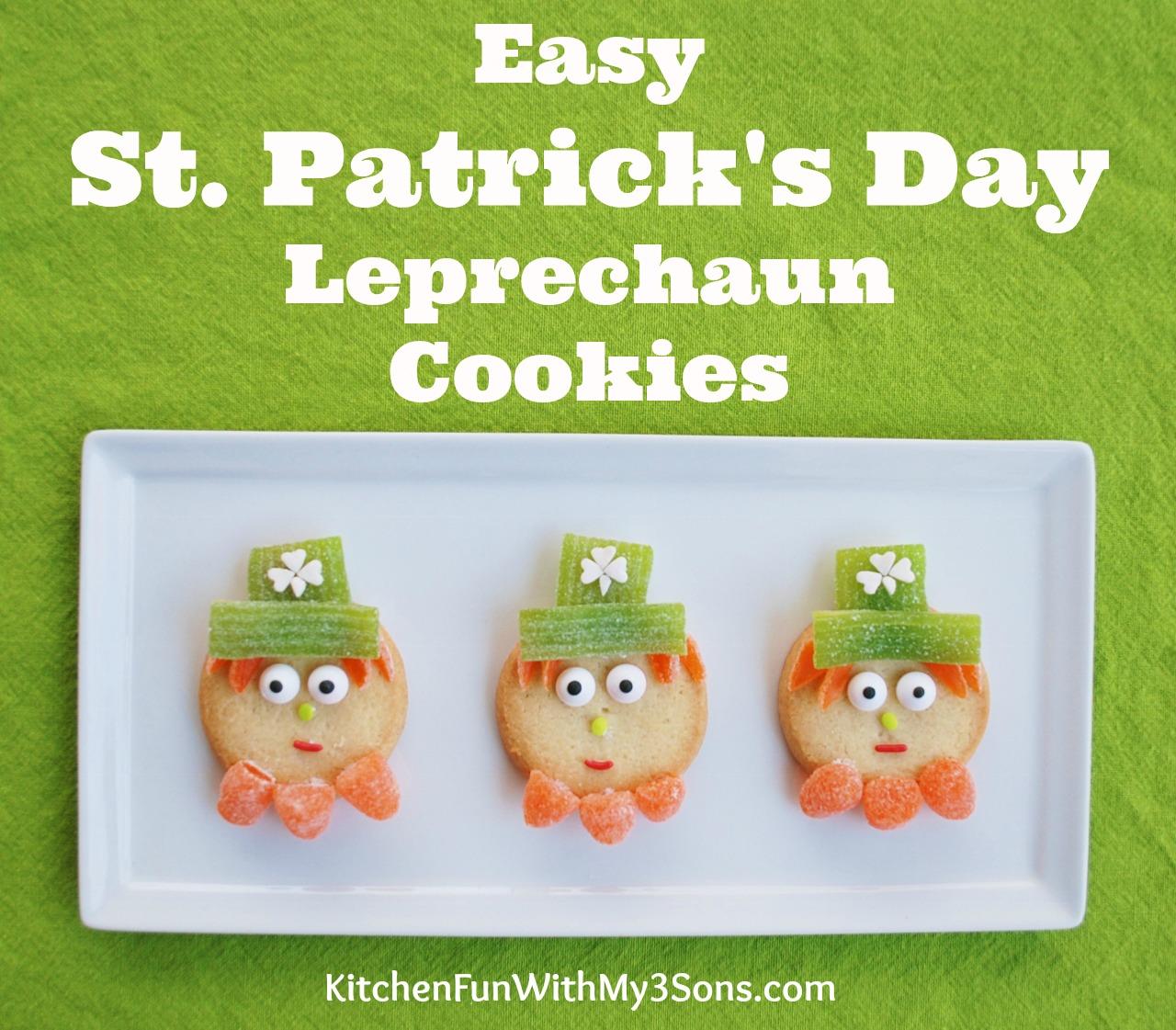 St Patrick S Day Breakfast She Brooke: Super Easy St. Patrick's Day Leprechaun Cookies