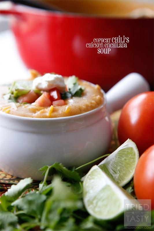 Copycat Chilis Chicken Enchilada Soup