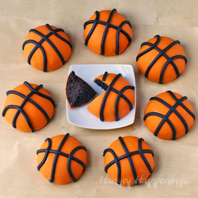 Mini March Madness Basketball Cakes