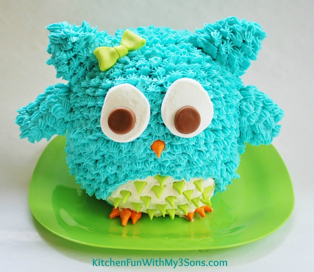 Easy Owl Cake Design : Owl Birthday Cake or Smash Cake. So Easy!