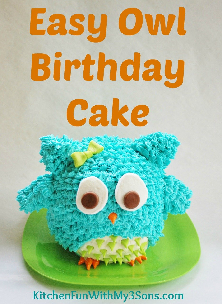Owl Birthday Cake or Smash Cake. So Easy!
