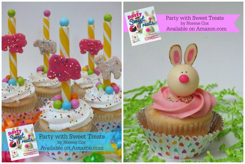 Circus Animal Cookie Cupcakes & Bunny Truffle Cupcakes
